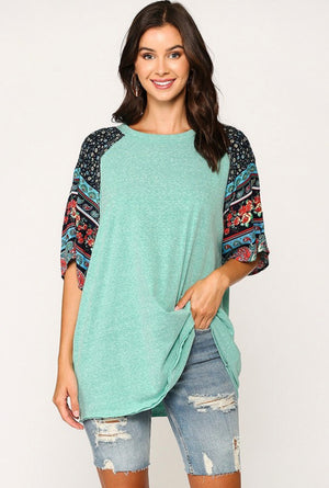 Seafoam Tunic with Dolman Sleeve