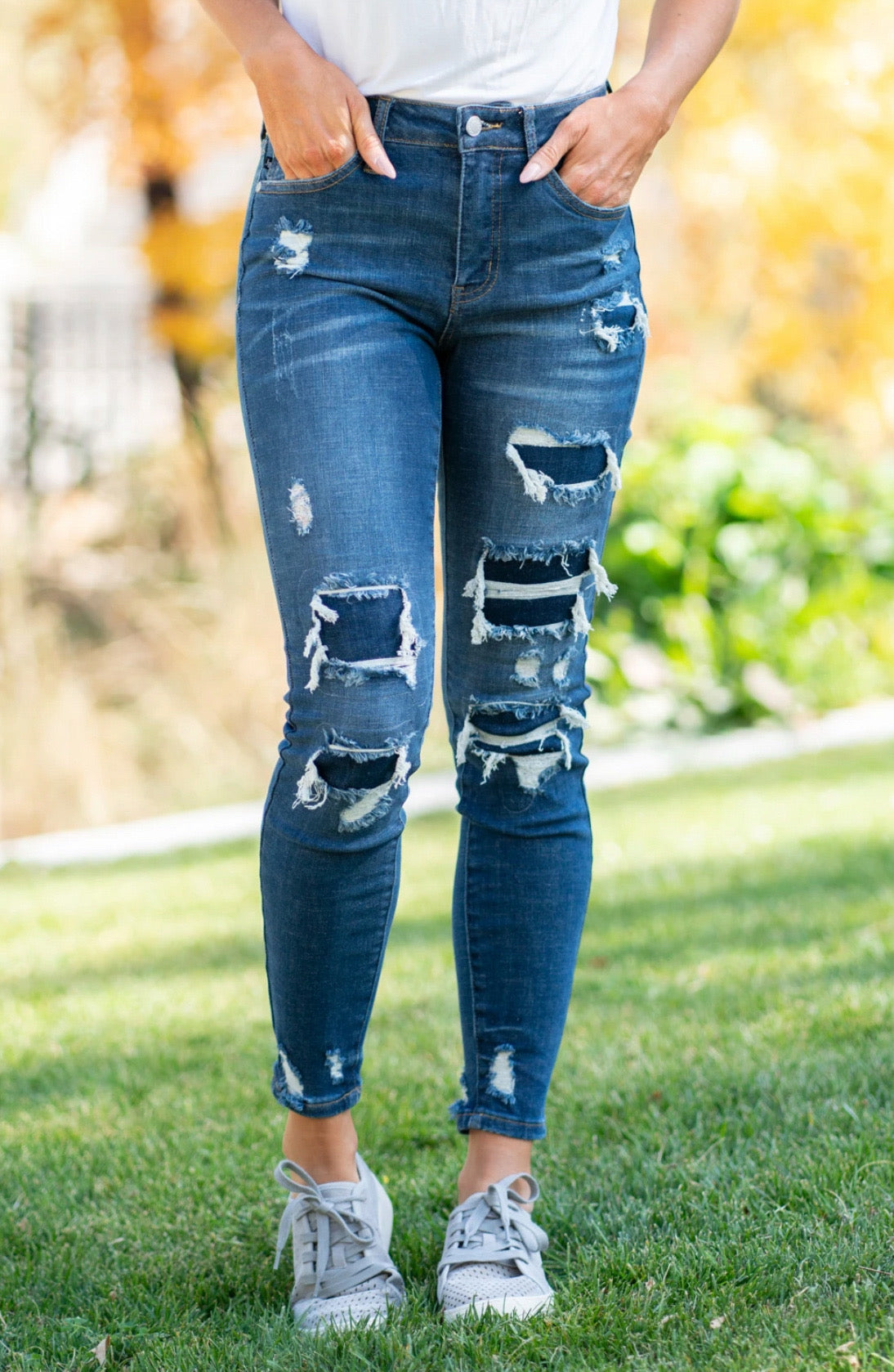 Judy Blue Destroyed Patch Denim