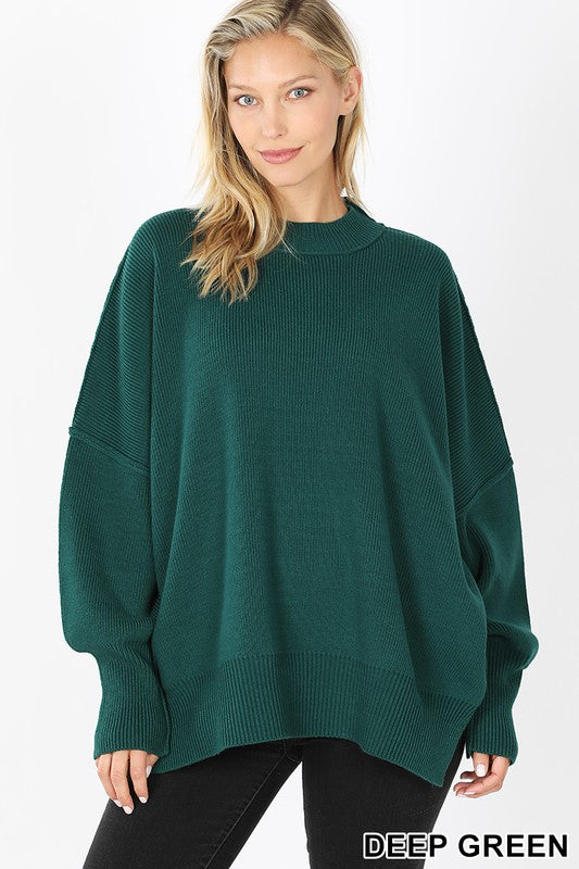 Deep Green Oversized Sweater