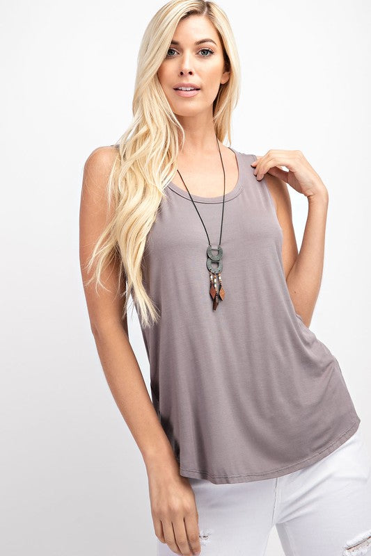 Sleeveless Basic Tank