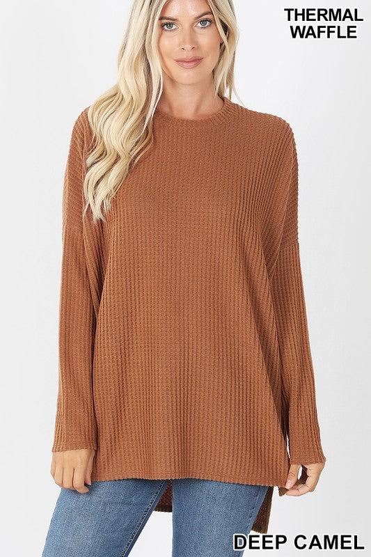 Thermal Waffle Sweater