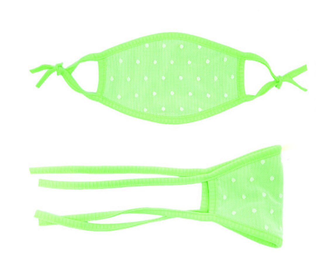 Neon Green Kids Face Mask