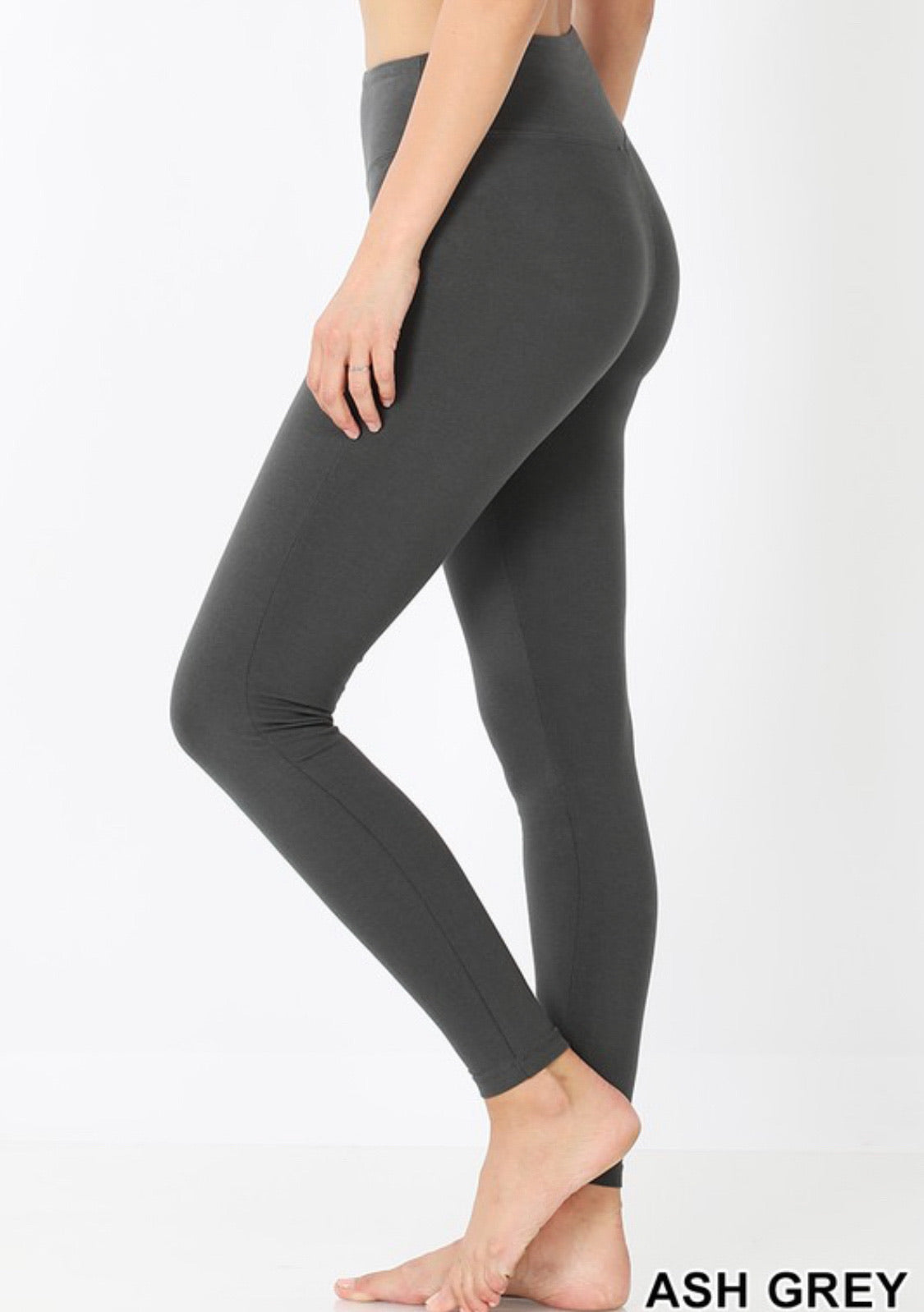 Wide Waistband Cotton Leggings