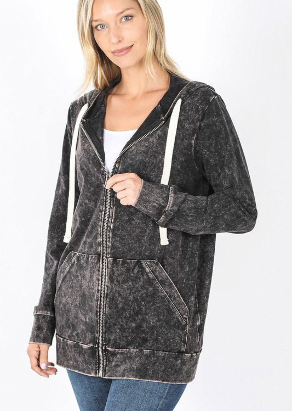 Charcoal Mineral Wash Jacket
