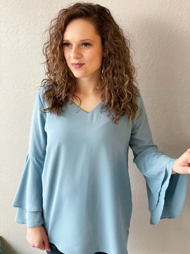 Double Layered Bell Sleeve Top