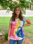 Tie-Dye Cheetah Pocket Top