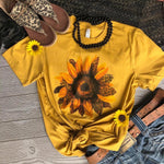 Mustard Sunflower Tee
