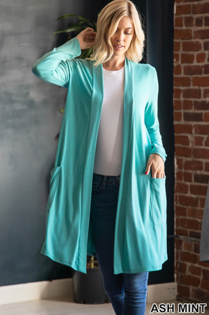 Long Sleeve Slouchy Pocket Cardigan