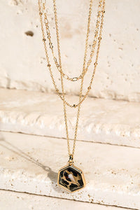 Layered Leopard Pendant Necklace