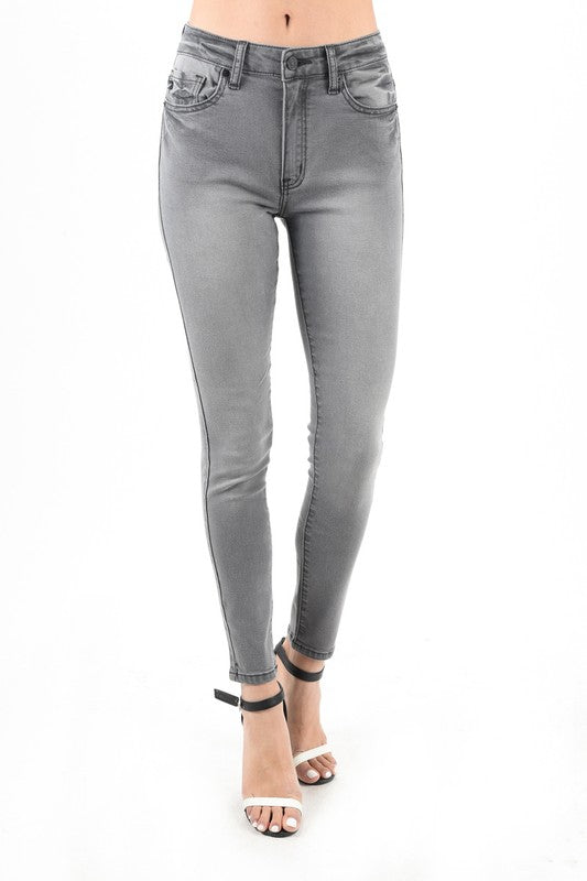 KanCan Grey High Waist Skinny Jeans - Tallulah Rose Boutique