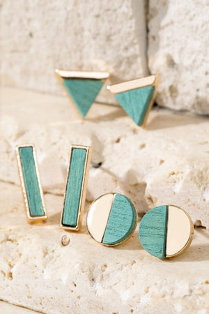 3 Set Geometric Earrings