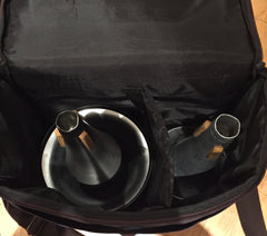 Bass trombone mutes, cup and straight