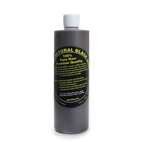West African Natural Black Soap (Liquid)