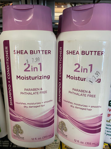 Shea butter 2 in 1 moisturizing shampoo and conditioner