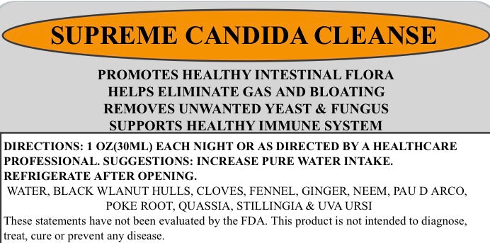 Supreme Candida Cleanse Tonic