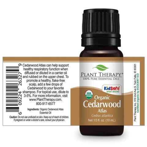 Cedarwood Atlas Organic Essential Oil 10 mL