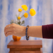 Poised and Powerful Agate and Lapis Bracelet