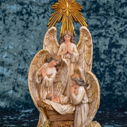"Angels in Adoration, 13"" Resin Nativity Statue"