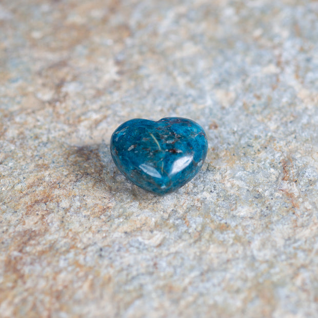 "Blue Apatite 1.5"" Heart-shaped gemstone"