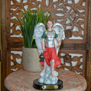 Beautiful Hand Painted 8-inch Archangel Jophiel Statue, sturdy resin