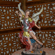 Archangel Michael Hand Painted 12-Inch Resin Statue