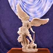 Saint Michael with this 14-Inch Marble Finish Statue