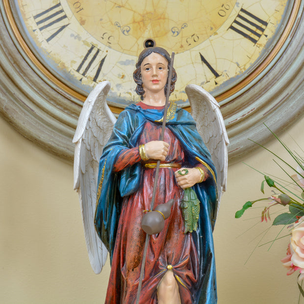 Archangel Raphael, 2-Foot Colorful Statue