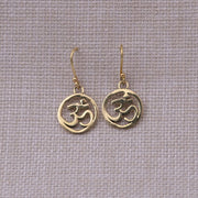 Brass Aum Earrings