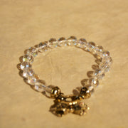 Crystal Faceted Beads with Dorje Clasp