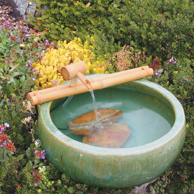 Bamboo Water Fountain 18 inches Classic Spout