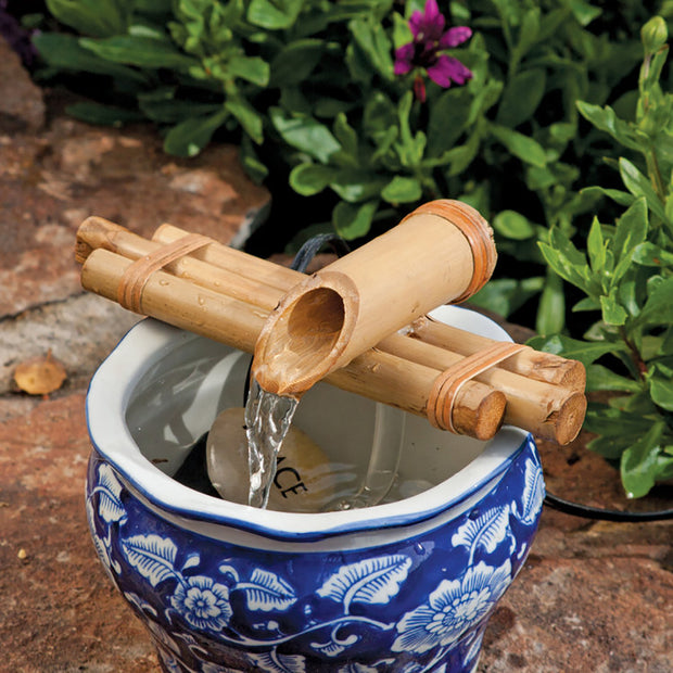 "Bamboo Fountain 7"" Three Arm Spout w/ pump kit"