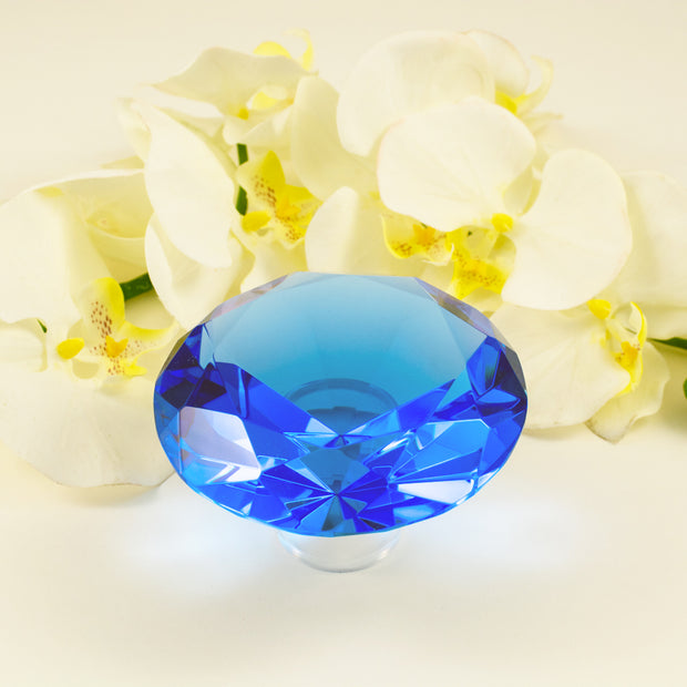 Blue Diamond Synthetic Crystal (Glass) small chip