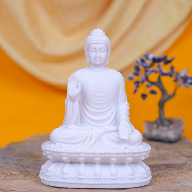 Buddha White Open hands Mudra