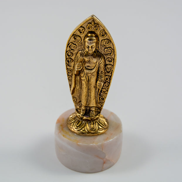 "Buddha Statue 24k Gold-Plated, 3.75"" tall"