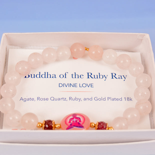 Buddha of the Ruby Ray Bracelet