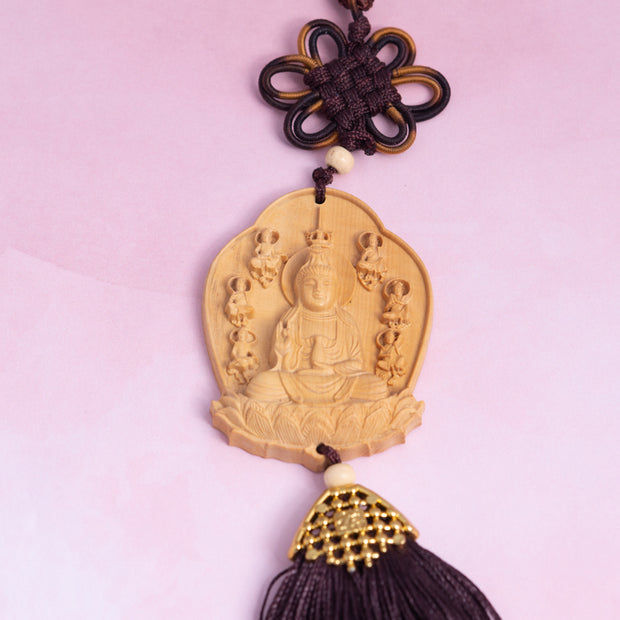 Buddhist Talisman for the Car Mirror