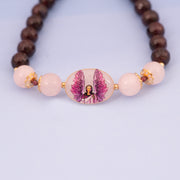 Build a Divine Connection with this Archangel Chamuel Rose Quartz Bracelet