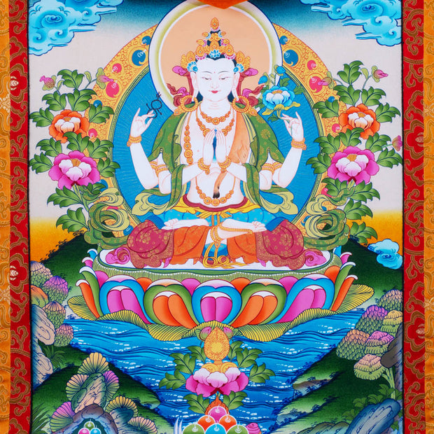 Chenrezig Thangka Large
