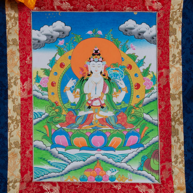 Chenrezig Thangka, Medium Size
