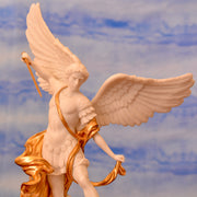 Archangel Michael, bonded marble with gold trim