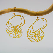 Nautilus Sacred Geometry Earrings