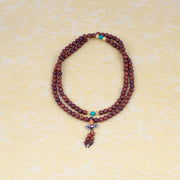 Dragon Red Wood Mala