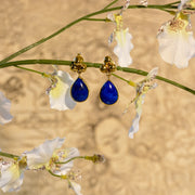 Lapis Nepali Tear Drop Earring