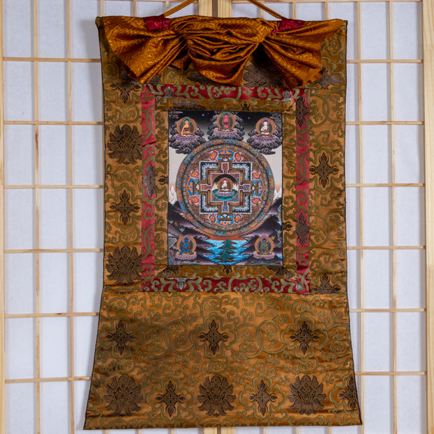 Five Dhyani Buddhas Mandala Thangka, Medium size