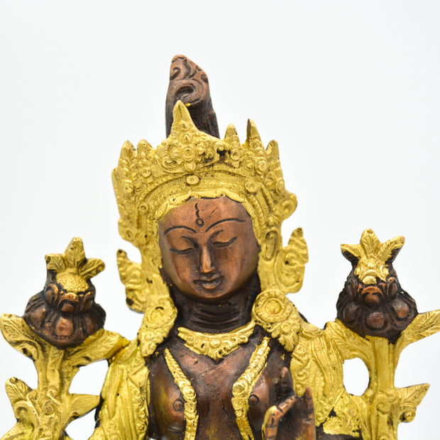Green Tara - Brass/Gold paint
