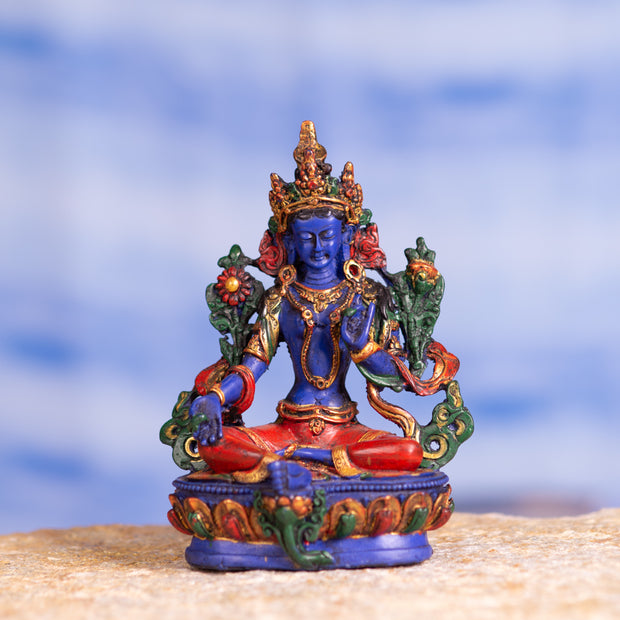 Green Tara Resin Statue, Four Different Colors