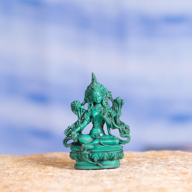 Green Tara, Small Resin Statue