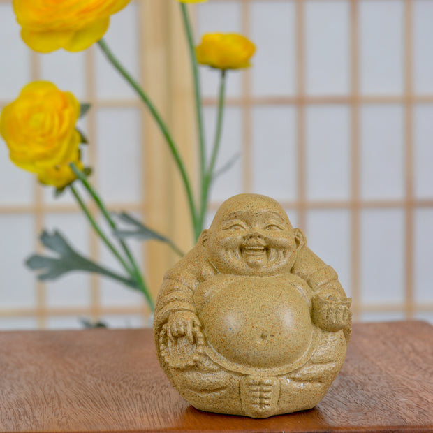 Happy Buddha (Sandstone Finish)