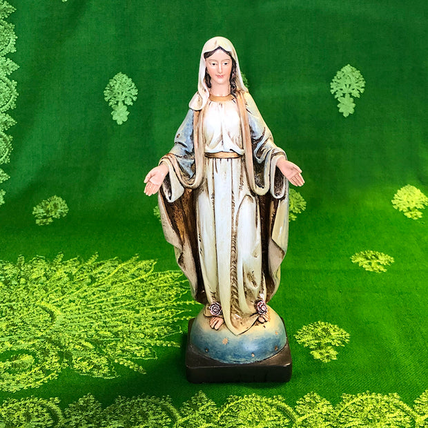 Our Lady of Grace Classical Handpainted Resin 8 Inches