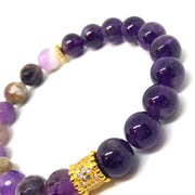Deep Purple Amethyst, Amethyst for Harmony and Transformation Bracelet